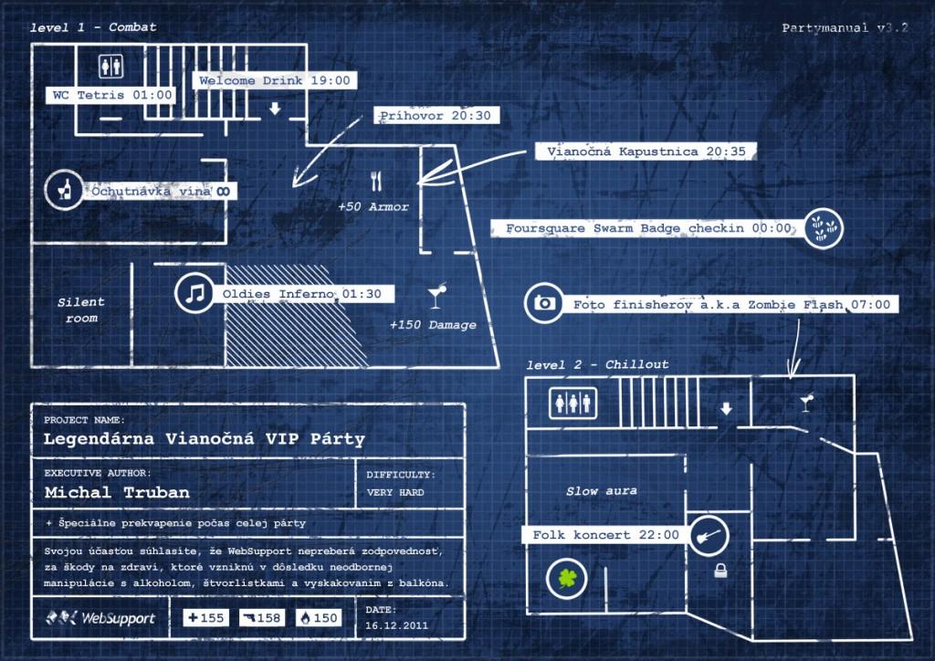 Kompletna pozvanka na WebSupport vianocnu party 2011